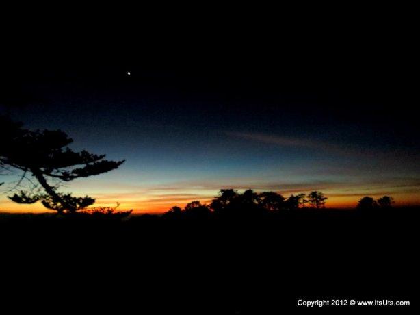 Dawn breaking through