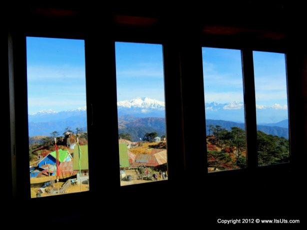 Window view from Sherpa Chalet